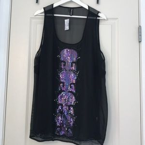 🚨 NWT 🚨 Sheer Sequined Tank